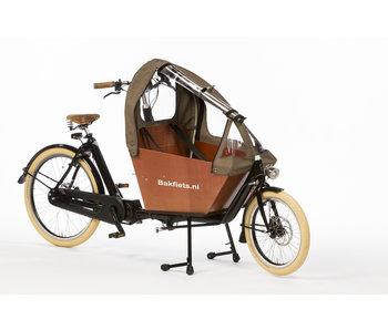 Bakfiets.nl Tent Cargobike short all-open Tweed