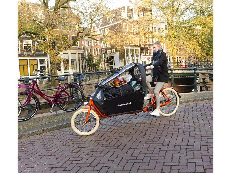 Bakfiets.nl Tent CargoBike Long All Open, extra hoog, 90% open