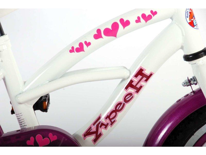 Volare Heart Cruiser 12 inch meisjesfiets wit / paars
