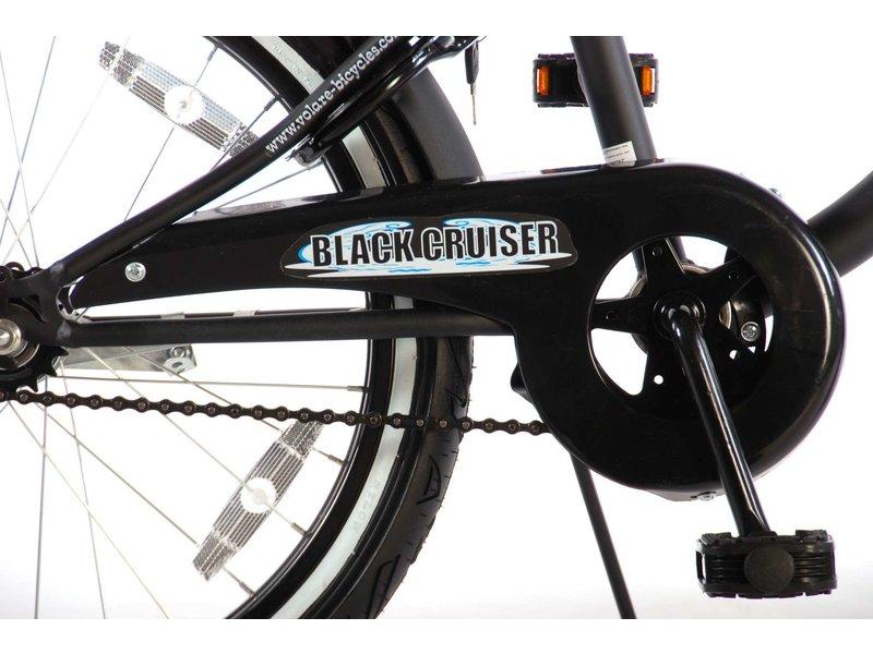 Volare Black Cruiser 20 inch jongensfiets mat zwart
