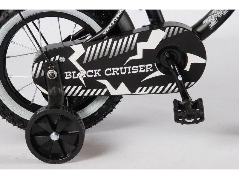 Volare Black Cruiser 12 inch jongensfiets mat zwart