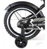 Volare Black Cruiser 14 inch jongensfiets mat zwart
