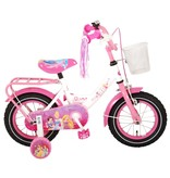 Disney Princess 12 inch meisjesfiets wit / roze