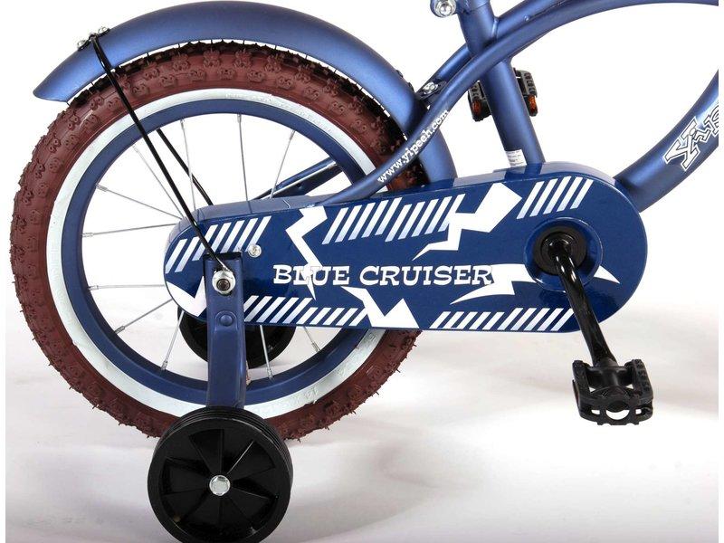 Volare Blue Cruiser 14 inch jongensfiets mat blauw