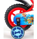 Paw Patrol 10 inch jongensfiets rood blauw
