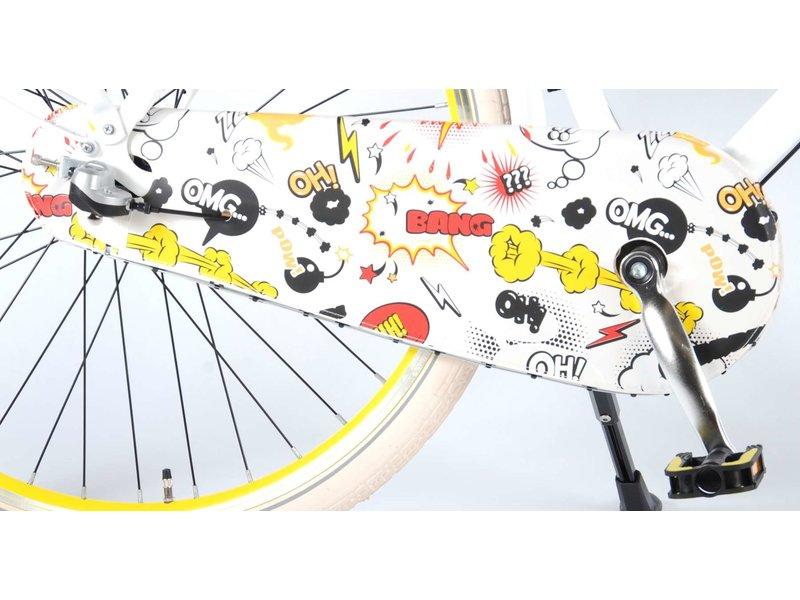 Salutoni Urban Transportfiets 56 cm 28 inch meisjesfiets Shimano Nexus 3 wit