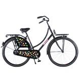 Salutoni Urban Transport 50 cm 28 inch meisjesfiets mat zwart