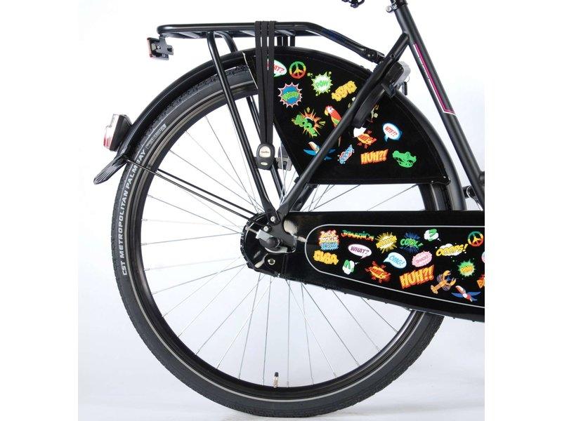 Salutoni Urban Transport 56 cm 28 inch meisjesfiets mat zwart
