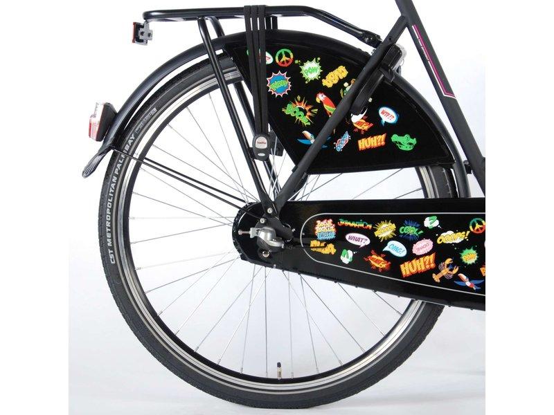 Salutoni Urban Transport 56 cm 28 inch meisjesfiets Shimano Nexus 3 mat zwart