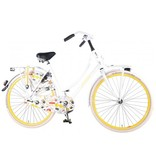Salutoni Urban Transportfiets 50 cm 28 inch meisjesfiets wit