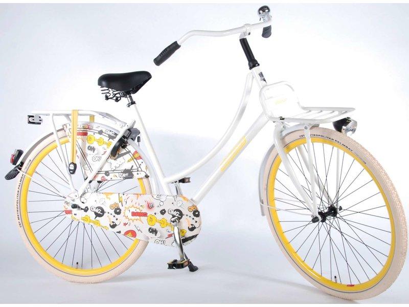 Salutoni Urban Transportfiets 56 cm 28 inch meisjesfiets mat wit