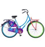 Salutoni Urban TransportGraffiti 56 cm 28 inch meisjesfiets blauw