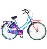 Salutoni Urban TransportGraffiti 56 cm 28 inch meisjesfiets Shimano Nexus 3 blauw