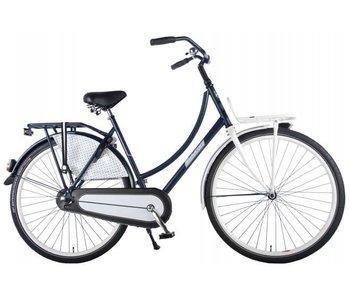 Salutoni Urban Transport 56 cm 28 inch meisjesfiets blauw wit