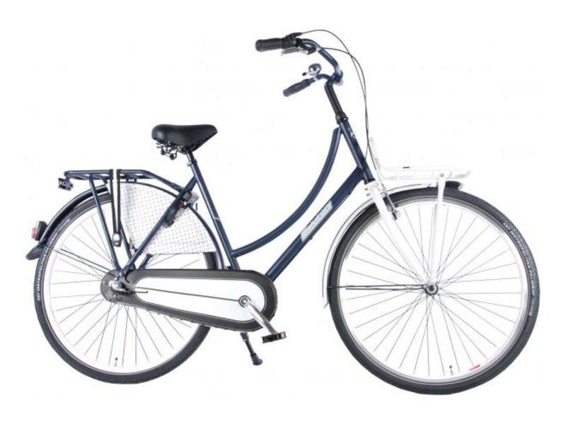 Salutoni Urban Transport 56 cm 28 inch meisjesfiets Shimano Nexus 3 blauw wit