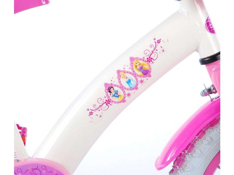 Disney Princess 14 inch meisjesfiets wit / roze