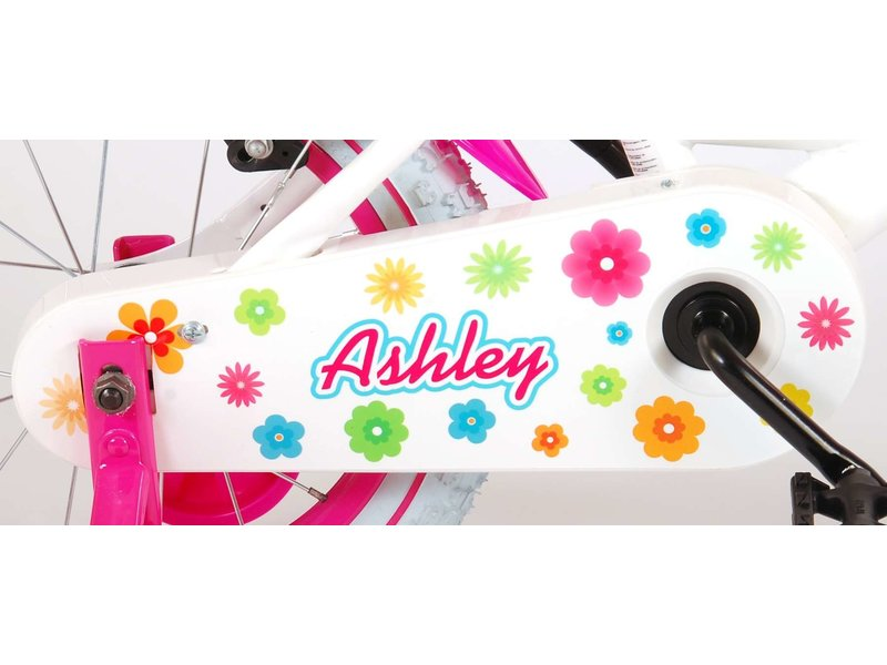 Volare Ashley met 14 inch meisjesfiets wit