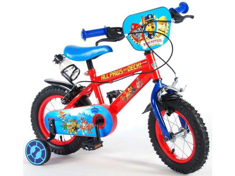 Paw Patrol 12 inch jongensfiets blauw rood