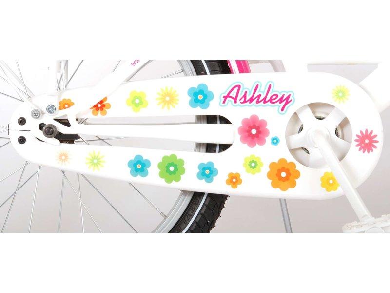 Volare Ashley 20 inch meisjesfiets twee handremmen wit