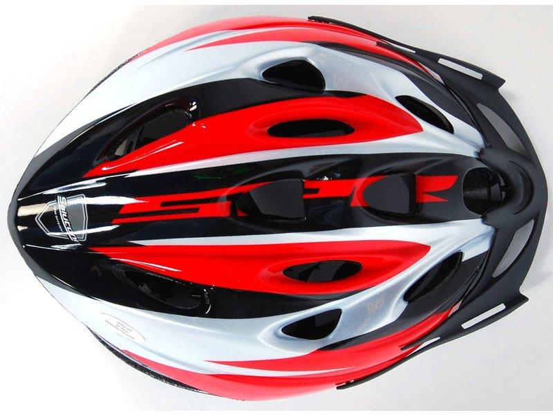 Volare Salutoni Heren Fietshelm 55-59 cm rood zwart
