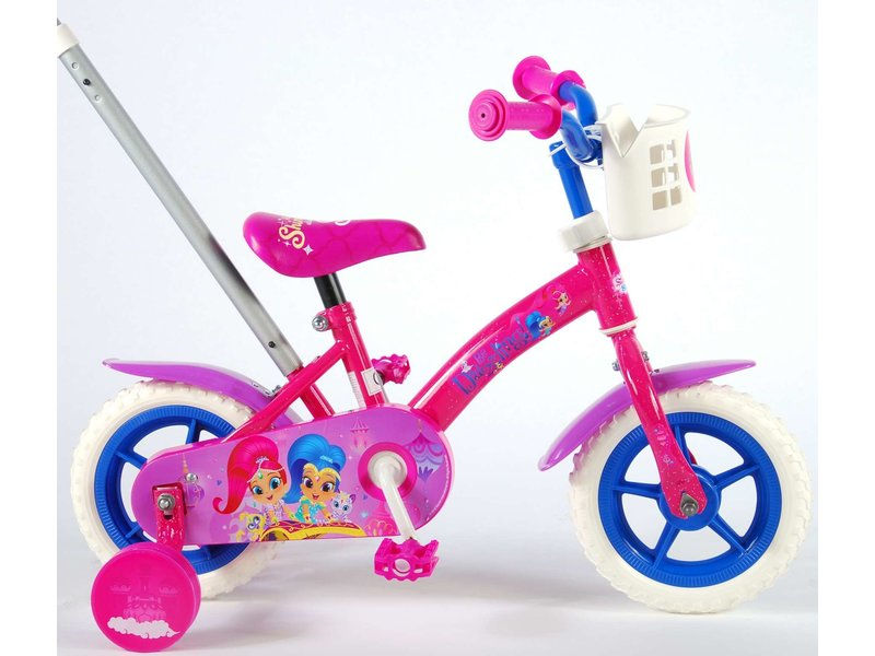Shimmer & Shine 10 inch meisjesfiets roze