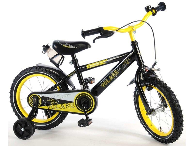 Volare Freedom 14 inch jongensfiets geel zwart