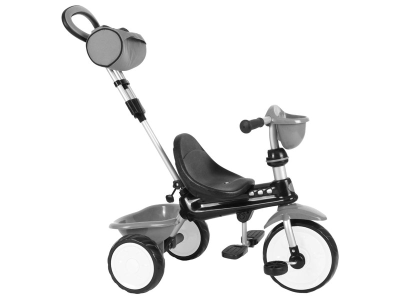Q-Play Driewieler Comfort 4 in 1 driewielers grijs