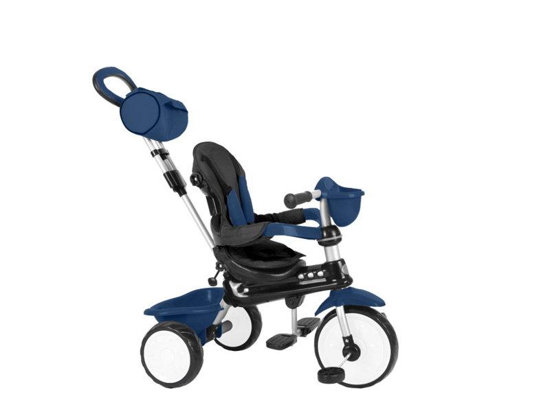 Q-Play Driewieler Comfort 4 in 1 Donker driewielers blauw