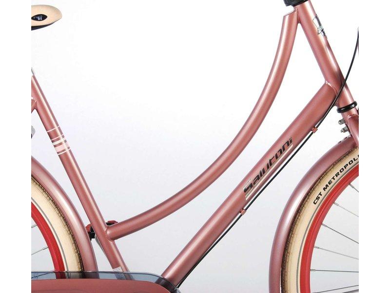 Salutoni Excellent Stadsfiets Oud 28 inch meisjesfiets Shimano Nexus 3 oud roze