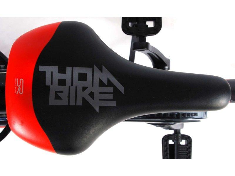 Volare Thombike City 24 inch jongensfiets satijn grijs rood