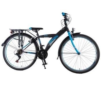 Volare Thombike City 26 inch jongensfiets Shimano 21-speed satijn zwart blauw