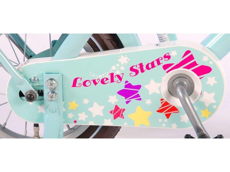 Volare Lovely Stars 12 inch meisjesfiets mint blauw
