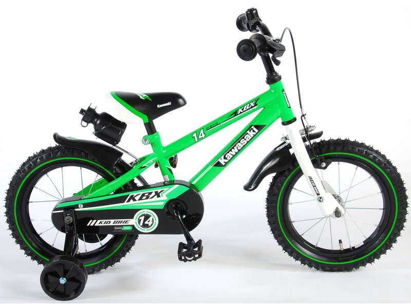 Kawasaki 14 inch jongensfiets groen