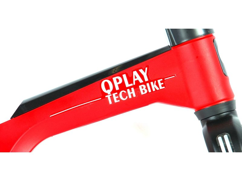 Q-Play Tech 10 inch loopfiets rood
