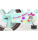 Volare Lovely Stars 14 inch meisjesfiets mint blauw