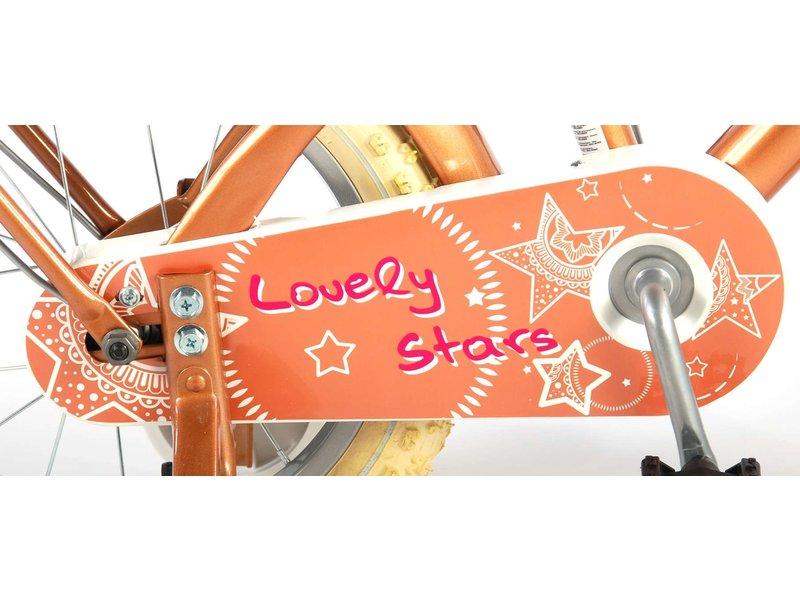 Volare Lovely Stars Goud 14 inch meisjesfiets goud