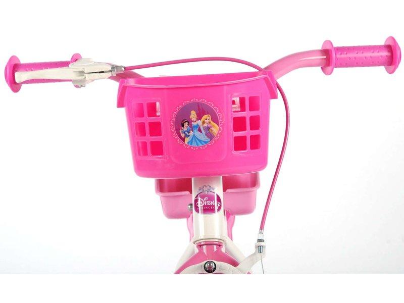 Disney Princess Poppenzitje 12 inch meisjesfiets wit / roze
