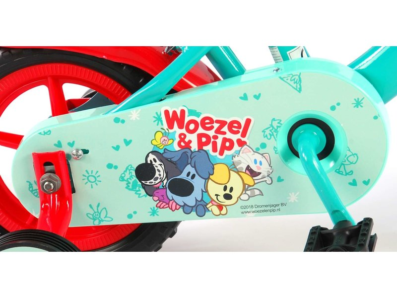 Woezel en Pip 10 inch jongensfiets blauw