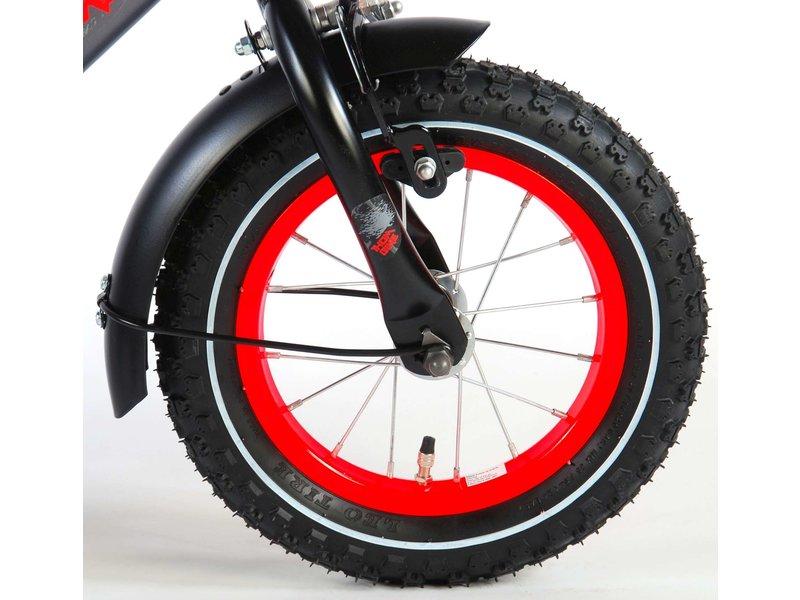 Volare Thombike 12 inch jongensfiets satijn grijs rood