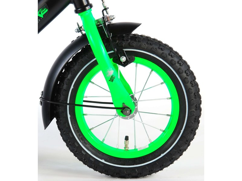 Volare Thombike 12 inch jongensfiets zwart groen
