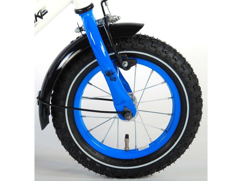 Volare Thombike 12 inch jongensfiets wit / blauw