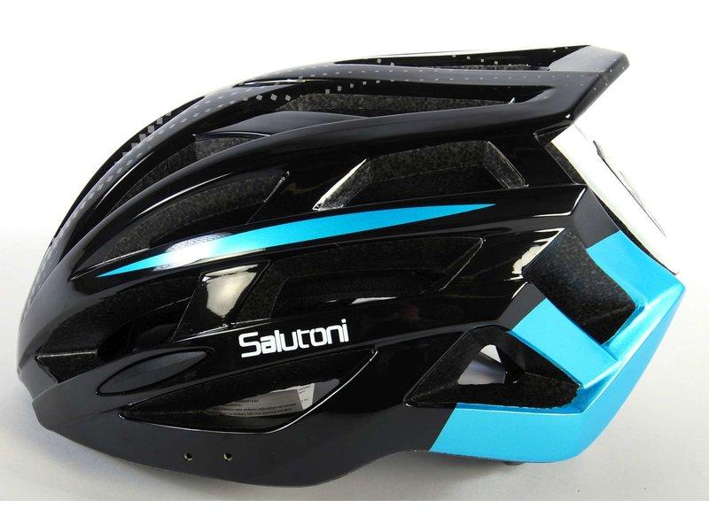 Salutoni Heren Fietshelm 54-58 cm zwart blauw