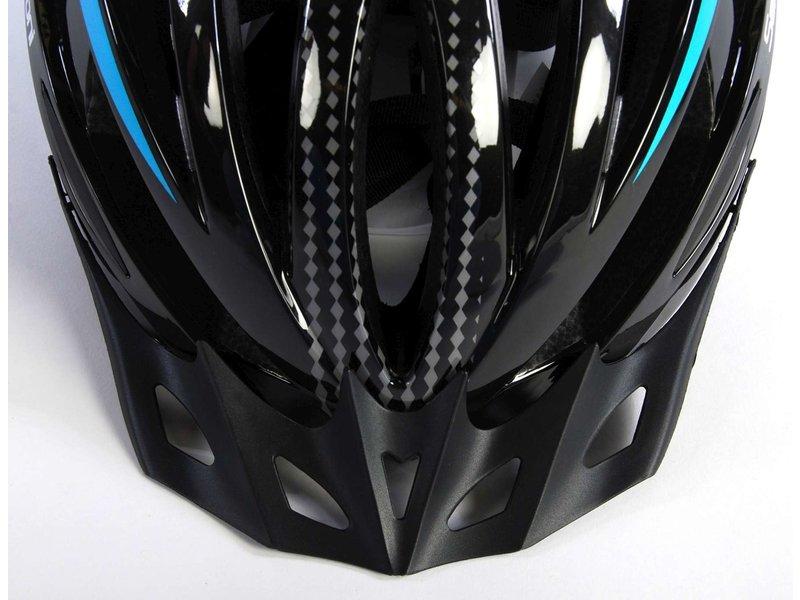 Salutoni Heren Fietshelm 58-61 cm zwart blauw