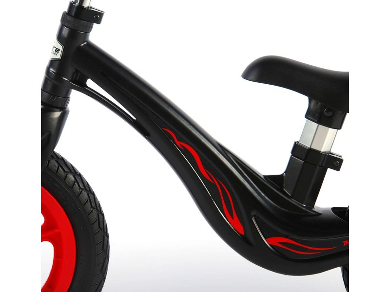 Volare Magnesium 12 inch loopfiets zwart rood