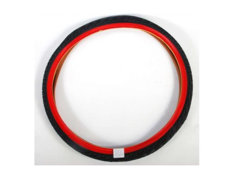Volare 24 inch zwart rood