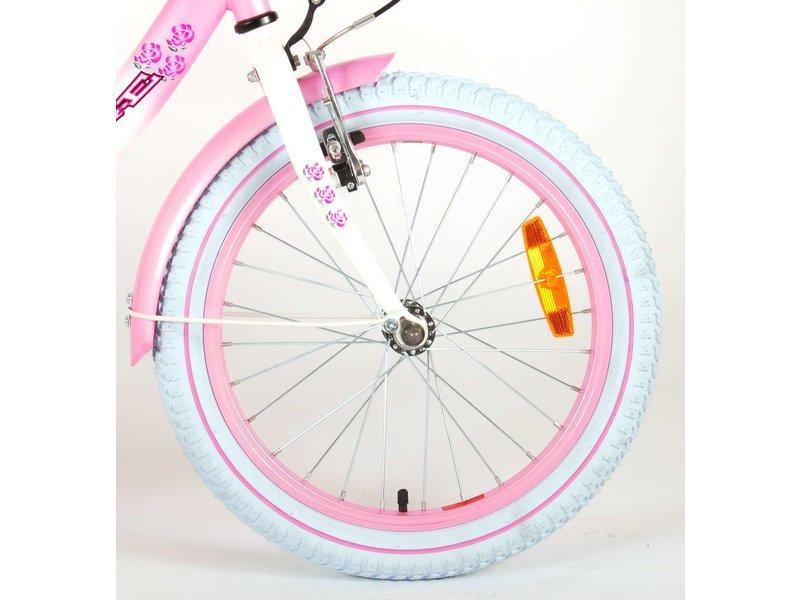 Volare Rose 18 inch meisjesfiets roze / wit