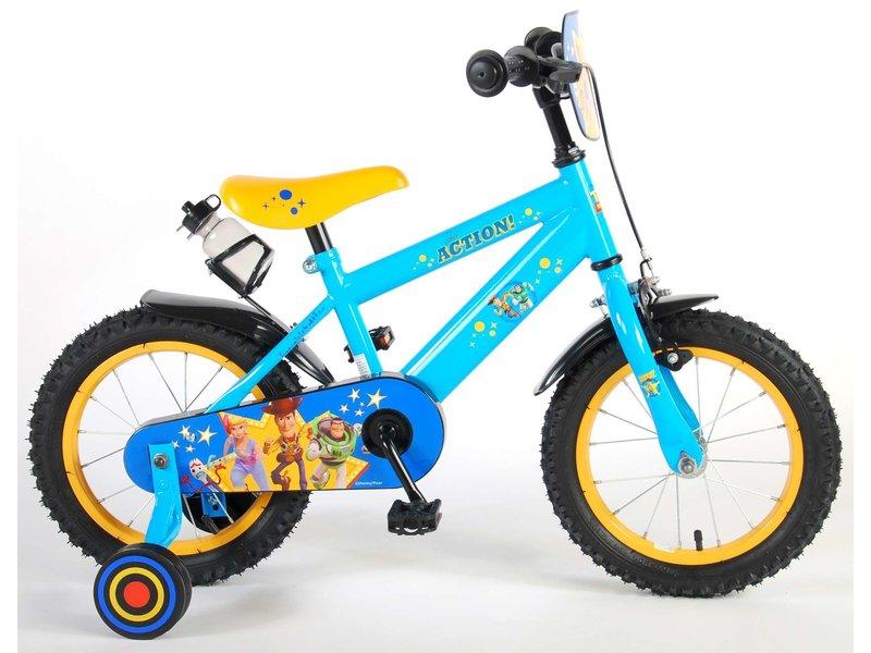 Toy Story Disney 14 inch jongensfiets blauw geel