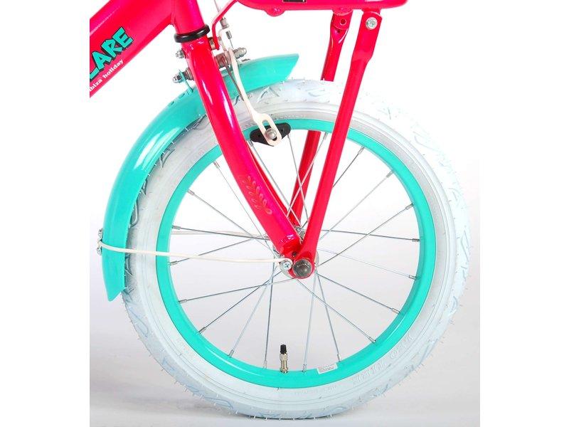 Volare Ibiza 16 inch meisjesfiets roze blauw