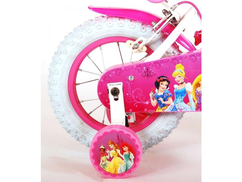 Disney Princess 12 inch meisjesfiets twee handremmen wit / roze
