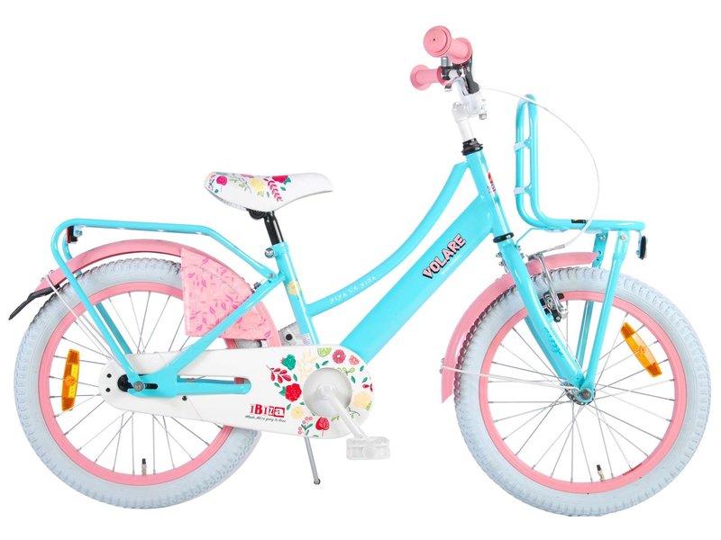 Volare Ibiza 18 inch meisjesfiets turquoise roze